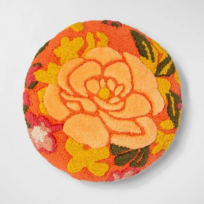 Tufted Floral Round Throw Pillow - Opalhouse™