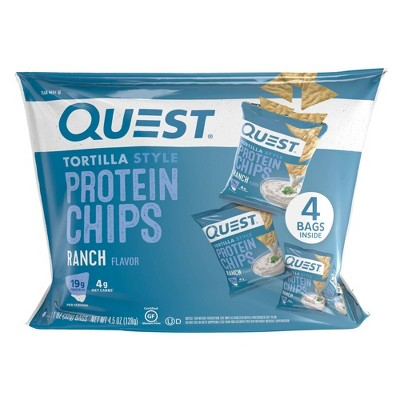 Quest Tortilla Style Protein Chips - Ranch - 4ct/4.5oz