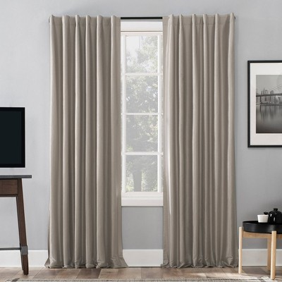Evelina Faux Dupioni Silk Thermal Extreme 100% Blackout Back Tab Curtain Panel - Sun Zero