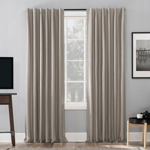 Evelina Faux Dupioni Silk Thermal Back Tab Extreme Blackout Curtain Panel - Sun Zero - image 1 of 4