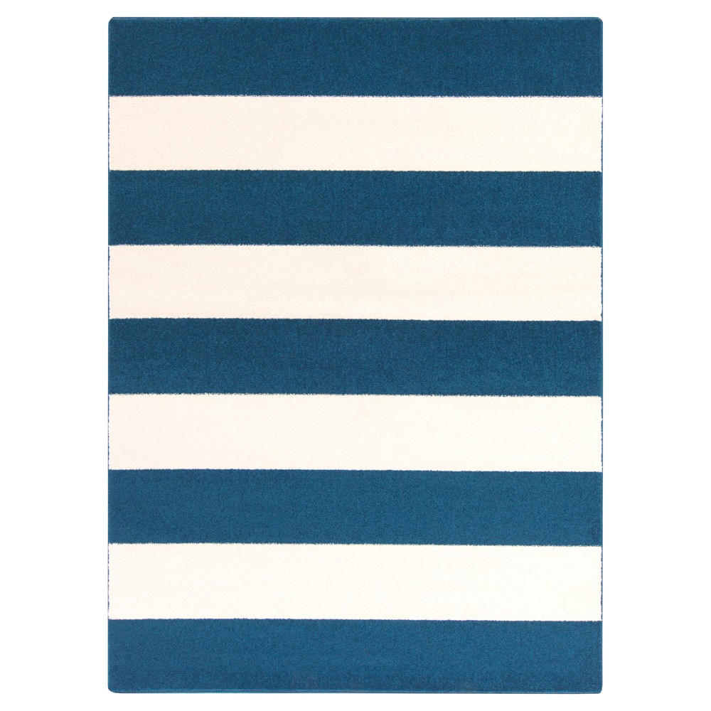 Navy (Blue) Stripes Tufted Area Rug - (6'7
