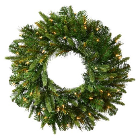 "48"" Dura-Lit Christmas Cashmere Wreath - Clear Lights - image 1 of 2"