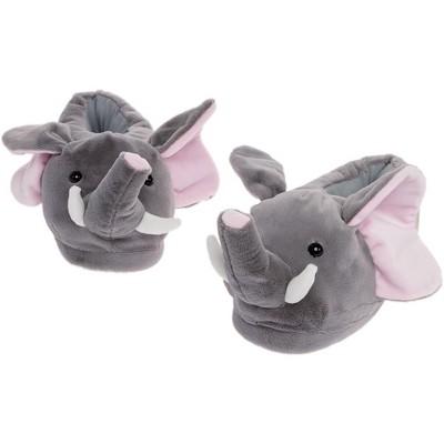FUNZIEZ! - Women's Elephant Animal Slippers
