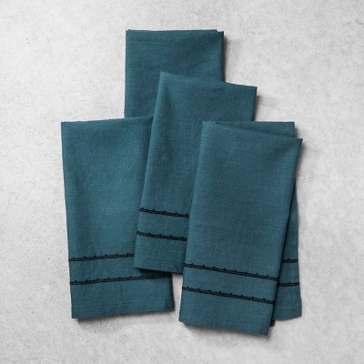 Linen Napkin Set of 4 - Blue - Hearth & Hand™ with Magnolia