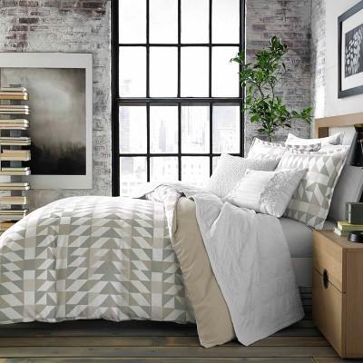 Gray Piper Comforter Set (King)- City Scene
