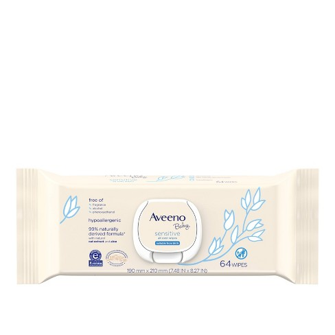 Aveeno Baby Sensitive All Over Wipes - image 1 of 9