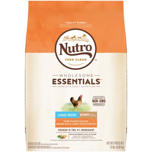 Nutro Farm Raised En Brown Rice And Sweet Potato Recipe Large Breed Puppy Dry Dog Food 15lb Target