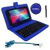 "LINSAY 7"" SUPER BUNDLE Quad Core Tablet with BLUE Keyboard  Earphones and Pen Stylus Android 9.0 PIE 2GB Ram 16GB Storage - image 2 of 3"