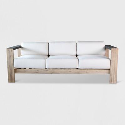 Merveilleux Montpelier Wood Patio Sofa With Sunbrella Fabric White   Smith U0026 Hawken™ :  Target