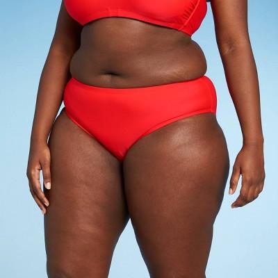 Juniors' Plus Size Hipster Bikini Bottom - Xhilaration™ Red