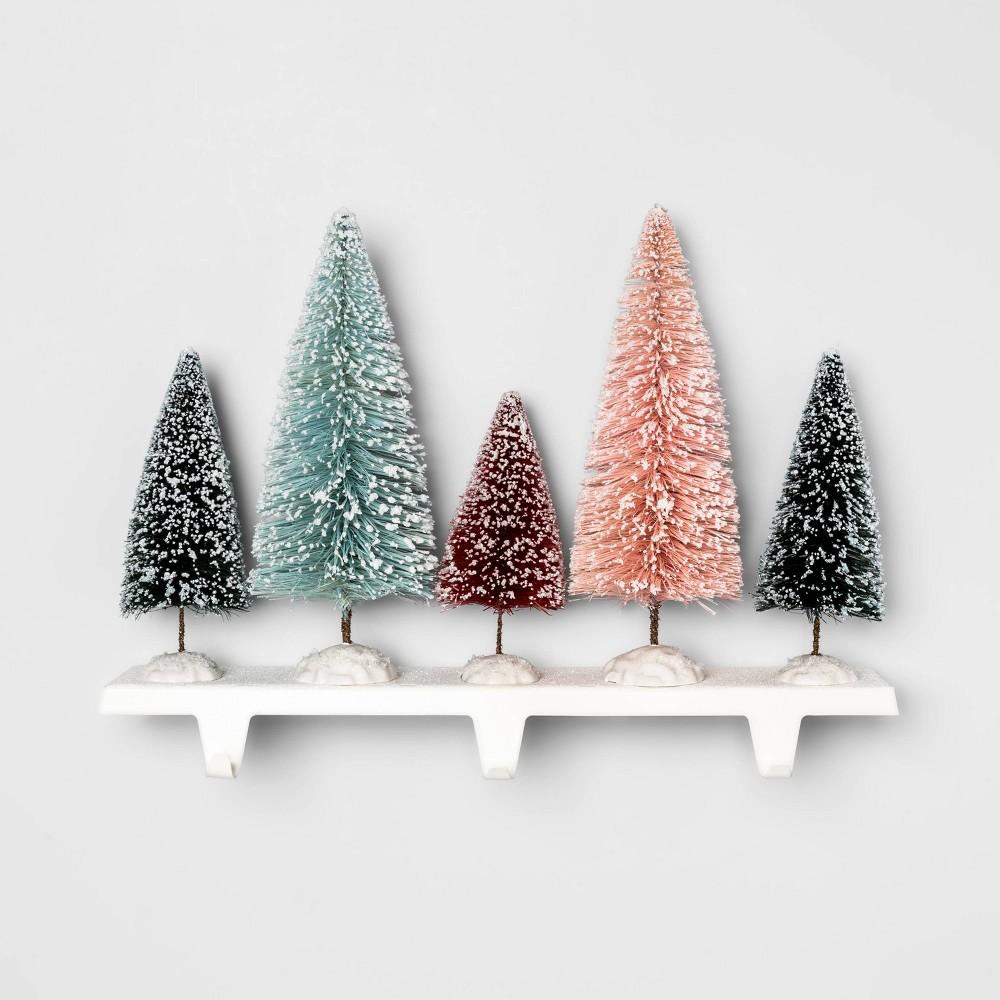 """Image of """"14.7"""""""" x 11.2"""""""" Bottle Brush Christmas Tree Stocking Holder - Opalhouse"""""""
