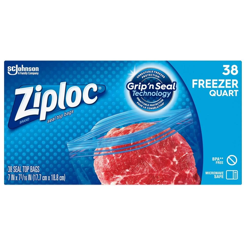 Ziploc Quart Freezer Bags 38ct