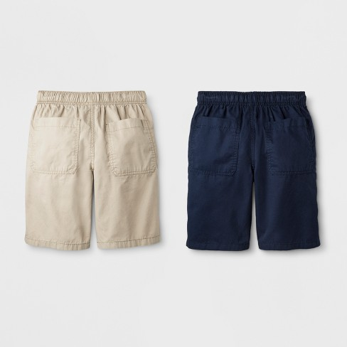 e6700d7ef2 Boys' 2pk Pull-On Shorts - Cat & Jack™ Khaki/Navy : Target
