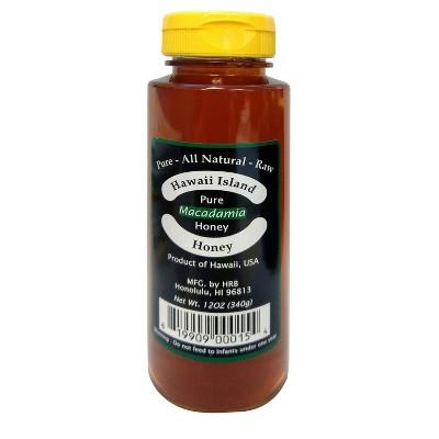 Hawaii Island Pure Macadamia Honey - 12oz