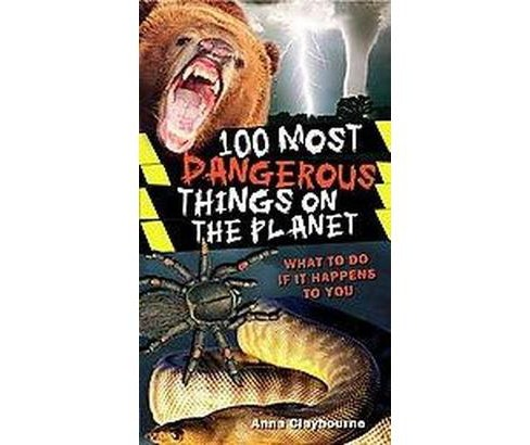 100 Most Dangerous Things on the Planet (Paperback) (Anna Claybourne) - image 1 of 1