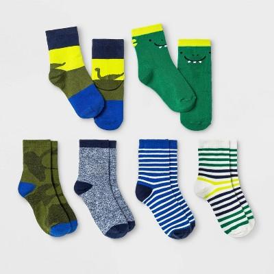 Toddler Boys' 6pk Dino Crew Socks - Cat & Jack™ 4T-5T