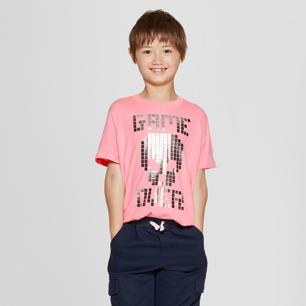 Boys' Short Sleeve Game Over Graphic T-Shirt - Cat & Jack Pink Xxl