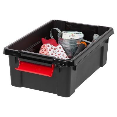 Heavy Duty Plastic Storage Bin   6pk, Black : Target