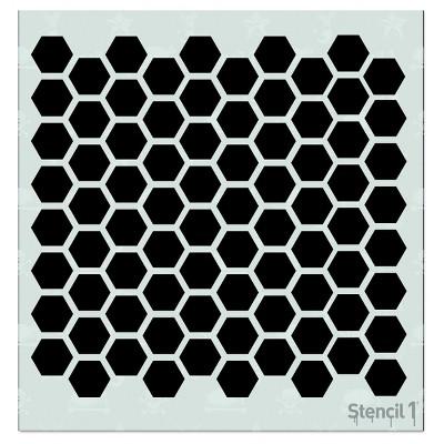 """Stencil1 Hexagon Repeating - Stencil 5.75"""" x 6"""""""