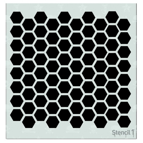"Stencil1 Hexagon Repeating - Stencil 5.75"" x 6"" - image 1 of 3"