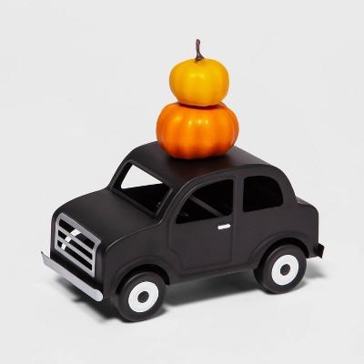 Metal Car with Small Foam Pumpkin Halloween Decorative Prop - Hyde & EEK! Boutique™
