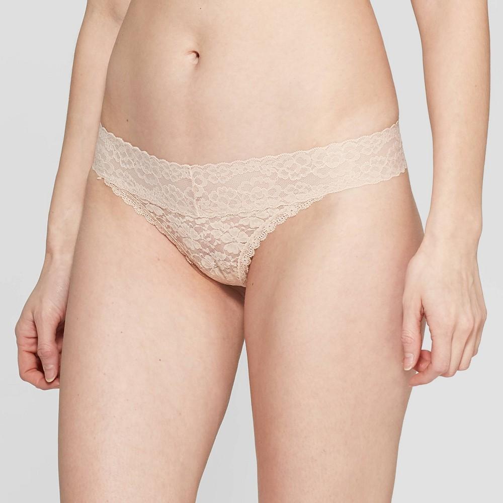 Women S All Over Lace Thong Auden 8482 Soft Beige Xl