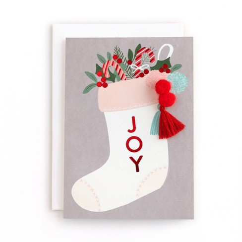 Minted 10ct Christmas Stocking Boxed Cards - image 1 of 4