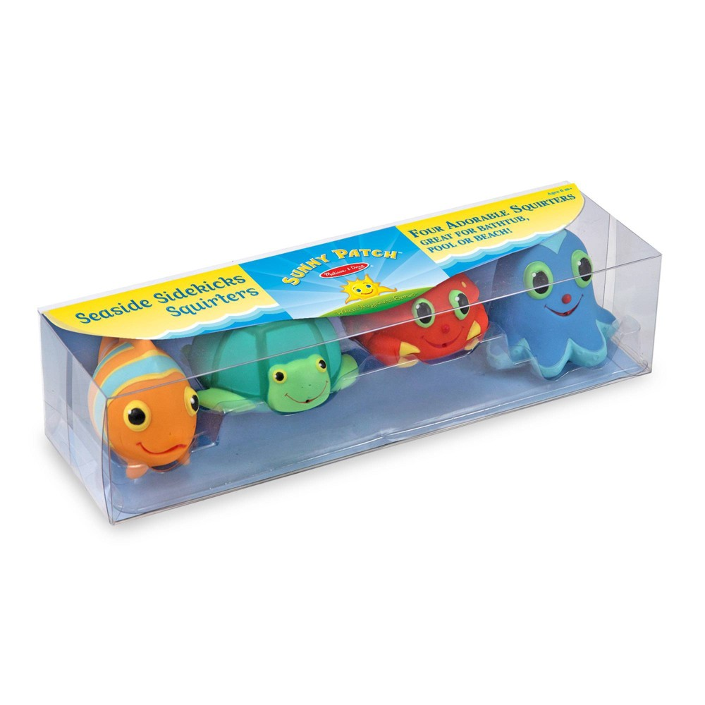 Melissa 38 Doug Sunny Patch Seaside Sidekicks Squirters With 4 Squeeze And Squirt Animals Water Toys For Kids