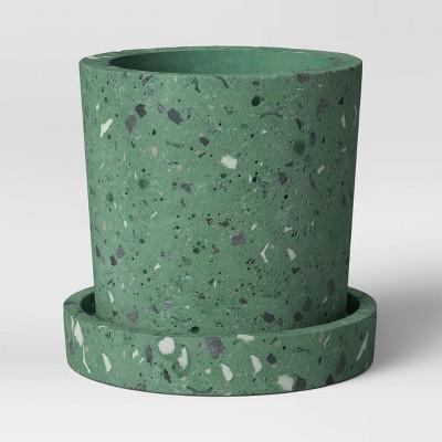 """4"""" Concrete Terrazzo Planter Green - Project 62™"""