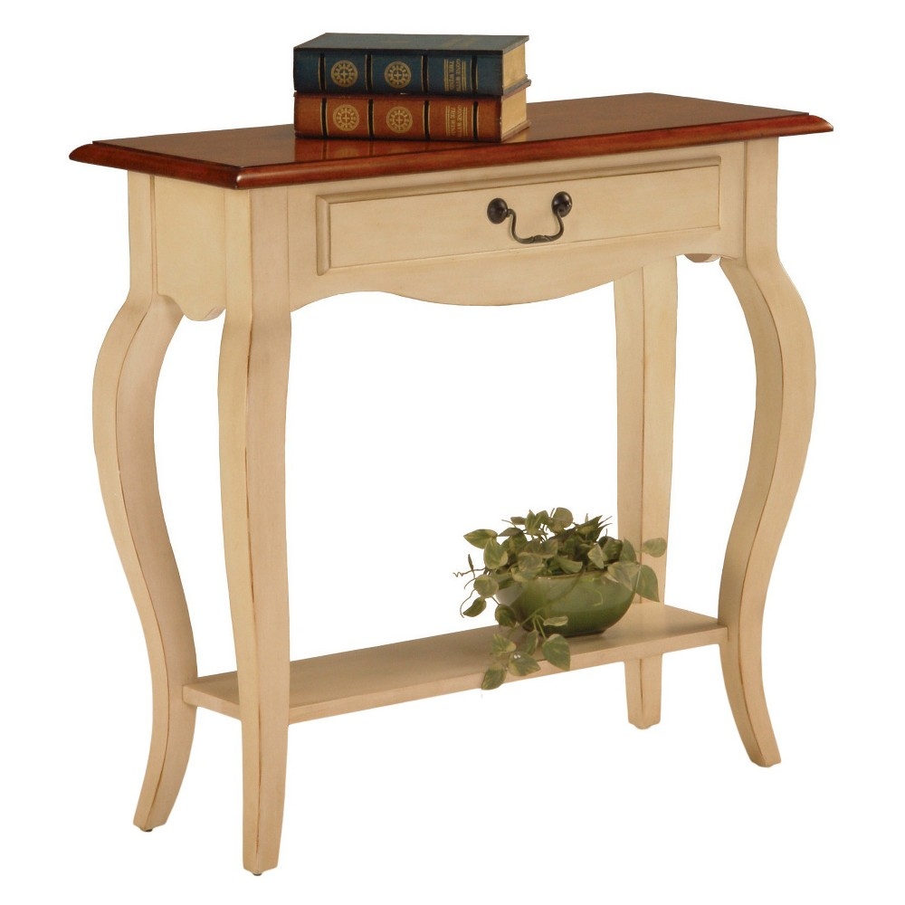 Favorite Finds Console Table Ivory Finish - Leick Home