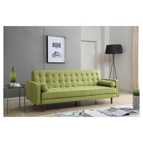 Fairfax Mid Century Modern Convertible Sofa - Green - Aeon