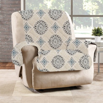 Medallion Printed Recliner Furniture Protector Cover - Sure Fit