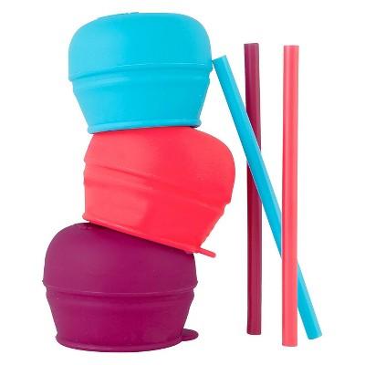 Boon SNUG Straw Lids - Purple