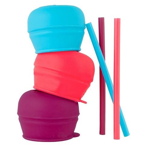 Boon SNUG Straw Lids - Purple - image 1 of 3