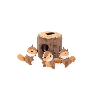 ZippyPaws Burrow Log - Chipmunks Dog Toy