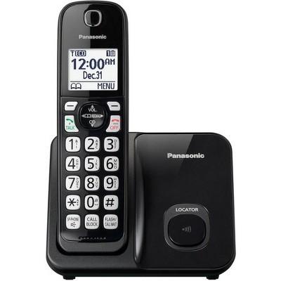 Panasonic KX-TGD510B DECT 6.0 1.93 GHz Cordless Phone - Black - 1 x Phone Line