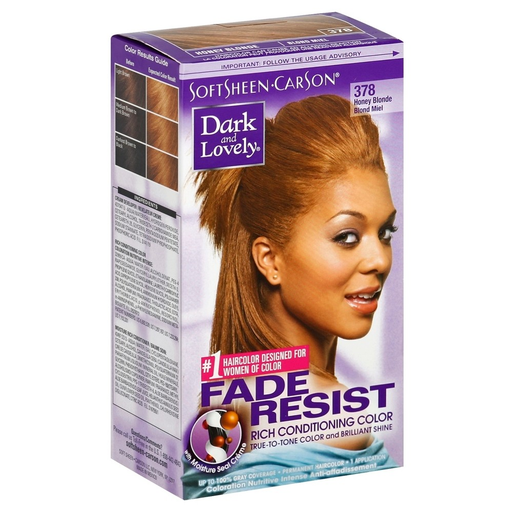 Dark and Lovely Fade-Resistant Rich Conditioning Hair Color - 378 Honey Blonde - 1 Kit