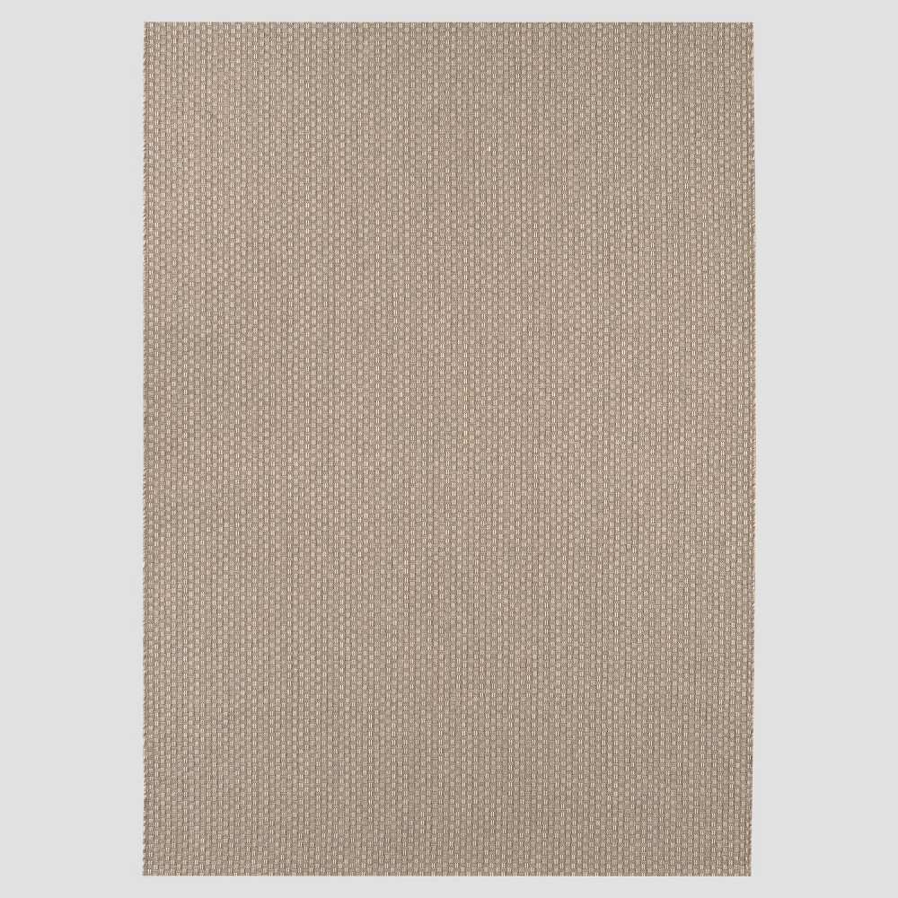 9' x 12' Basketweave Outdoor Rug Oatmeal - Smith & Hawken, Brown