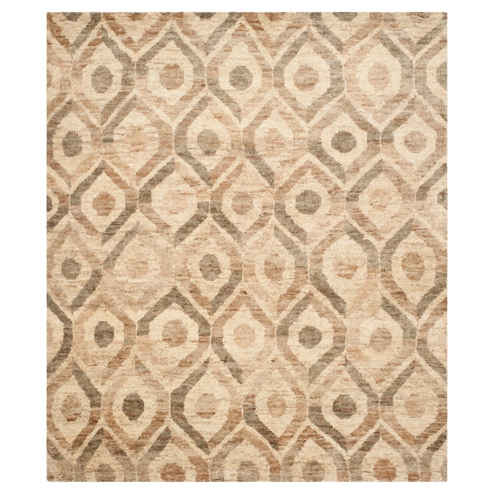 Bleach/Brown Abstract Knotted Area Rug - (4'X6') - Safavieh