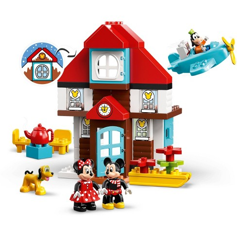 LEGO DUPLO Disney Mickey's Vacation House 10889 Toy House Building Set with  Mickey Mouse Figure 57pc