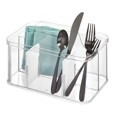 iDESIGN Crisp Cutlery Tote Clear