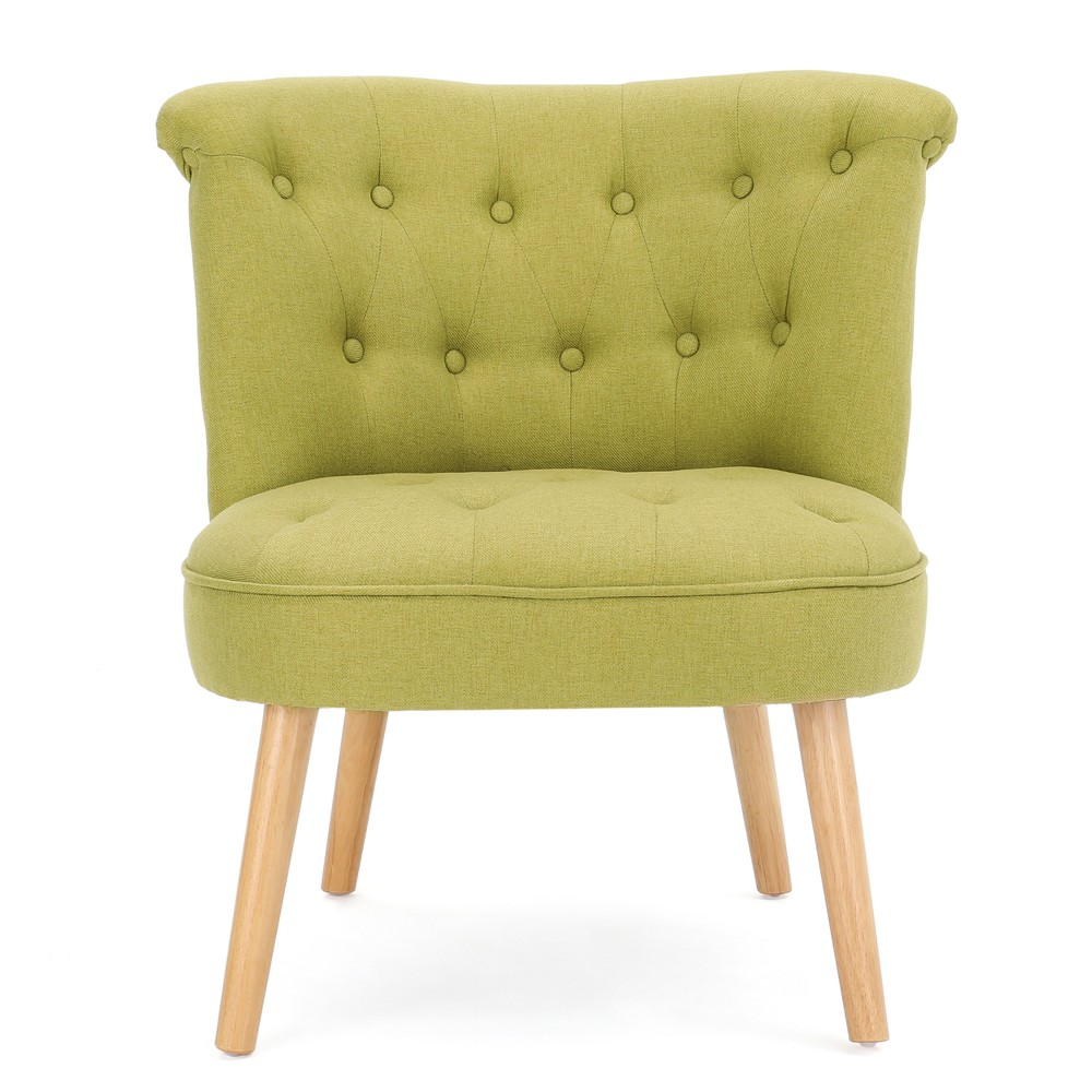 Cicely Tufted Accent Chair - Light Green - Christopher Knight Home