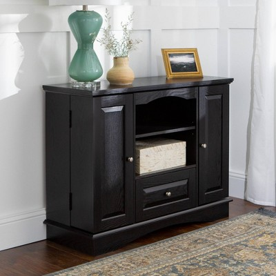 """Highboy Wood Storage Console TV Stand for TVs up to 48"""" - Saracina Home"""