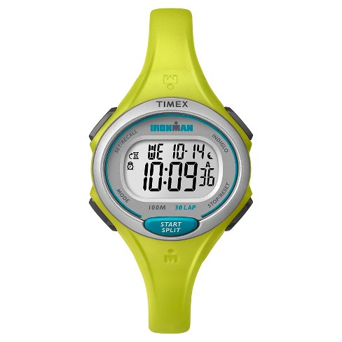 Women's Timex Ironman® Essential 30 Lap Digital Watch - Lime TW5K90200JT - image 1 of 1
