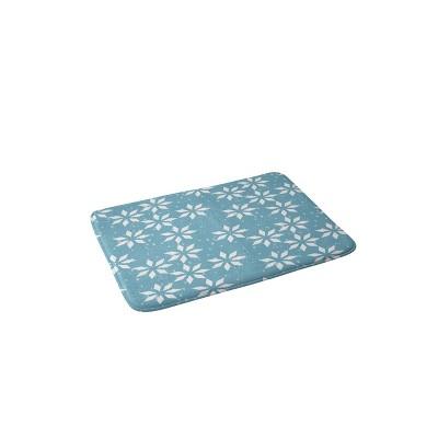 Mirimo Holly Holidays Christmas Memory Foam Bath Mat Blue - Deny Designs