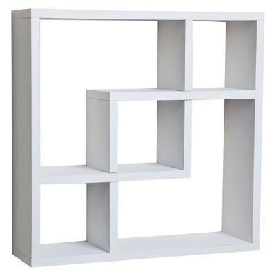 "17.7"" x 17.7"" Geometric Square Wall Shelf - Danya B."