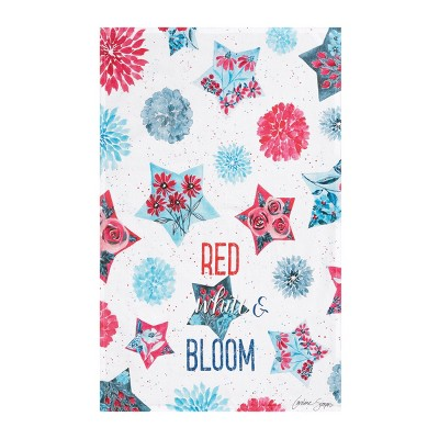 C&F Home Red,White & Bloom Kitchen Flour Sack Dishtowel