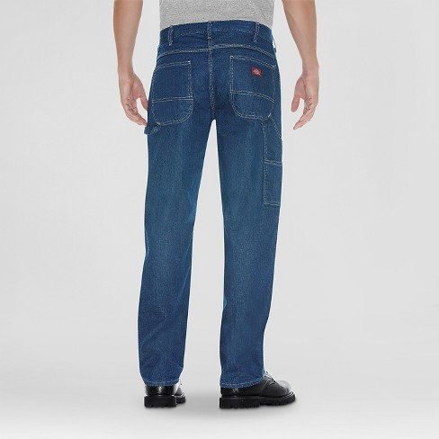 f523728f Dickies® - Men's Big & Tall Relaxed Straight Fit Denim Carpenter Jeans  Stone Washed 54X30 : Target
