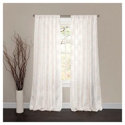 Serena Window Curtain White (84 x54 )- Lush Décor