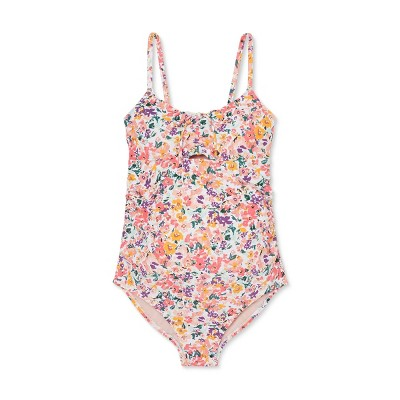 Floral Print Scoop Neck Tunnel Tie Maternity One Piece Swimsuit - Isabel Maternity by Ingrid & Isabel™